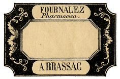 Vintage Medicine Bottle Labels | Vintage French Pharmacy Labels – Apothecary – 5 Options