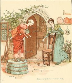 The Pied Piper of Hamelin (1888) by Robert Browning, illustrated by Kate Greenaway - 3 and even spoiled the womens chats