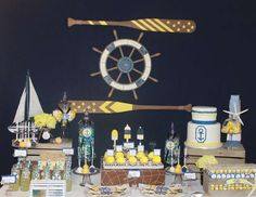 Sailor/nautical / Baby Shower Sailor Themed Baby Shower | Catch My Party