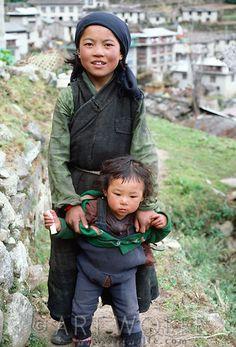 Children, Namche Bazaar, Nepal
