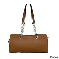 Dasein Women's Leatherette Chain Strap Shoulder Bag | Overstock.com Shopping - Great Deals on Dasein Shoulder Bags