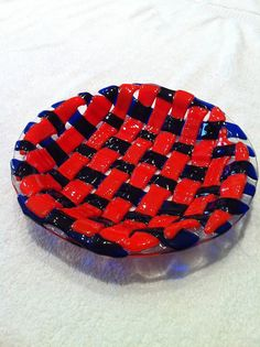 Fused glass bowl Fused  bowl glass bowlr  kiln fired by bizzib, $92.50