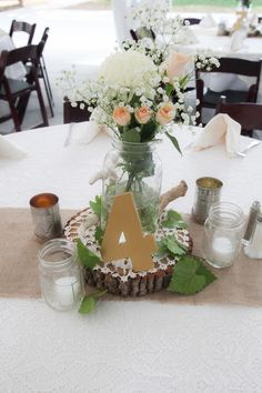 Rustic Rose and Chrysanthemum Centerpiece