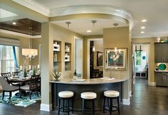 Party plans this weekend? Your custom home\'s bar by the kitchen is ...