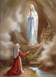 """""""I am the Immaculate Conception."""" Our Lady of Lourdes and Saint Bernadette of Lourdes, pray for us. Amen!"""