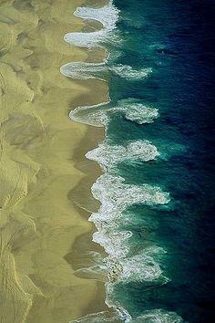 Beach at Cabo San Lucas. Rip currents.