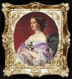 victorian dollhouse miniatures | Victorian Lady Miniature Dollhouse Art Picture 6052