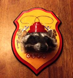 Devo Raccoon  anthropomorphic taxidermy Mounted Raccoon by ebinard, $250.00