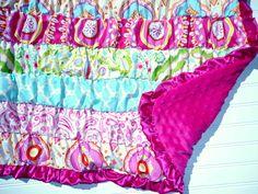 Ruffle Blanket in Kumari Garden Fabric. $85.00, via Etsy.