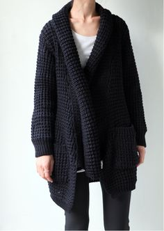waffle knit cardigan #style #fashion