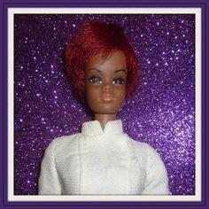 1969 Mattel Julia Barbie Doll with Original RN Dress - Diahann Carroll - Doll-lighted To Meet You! #dollshopsunited