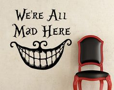Alice In Wonderland Wall Decal Quote It's No Use by FabWallDecals