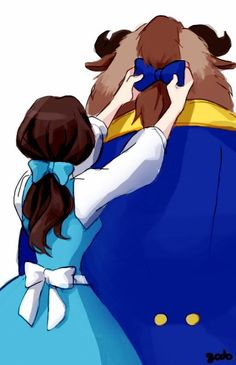 Beauty & the Beast. This is adorable!