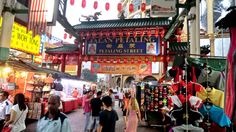 Jalan Petaling street market. Many famous brands of dubious authenticity. Bustling!