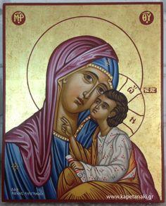 Virgin Glykofilousa,icon painter Eleni Kapetanaki