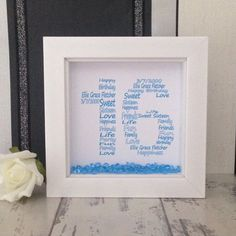 This sweet sixteen birthday frame is a great gift to mark a special birthday. For more birthday keepsake gifts take a look in my shop. Special Birthday, Birthday Gifts, Birthday Frames, Sweet Sixteen, I Shop, Great Gifts, Creative, Handmade, Etsy
