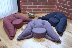 these are the best meditation cushions! they are ergonomically designed to give support to the parts of the body that are usually under strain/ pain when sitting cross legged for long periods of time