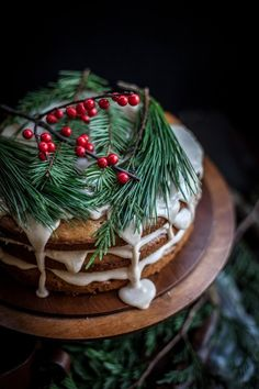 Date & Honey Cake With A Cinnamon Orange Glaze | Christmas Desserts