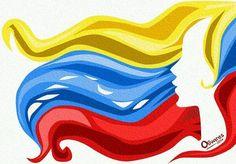 Arte con nuestra bandera: Venezuela nación de mujeres valientes (1/2) pic.twitter.com/ajkQlMdy3d