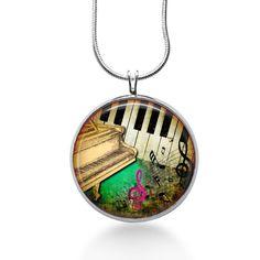 Piano Music Necklace - Sheet Music Jewelry - Pendant #Handmade #Pendant