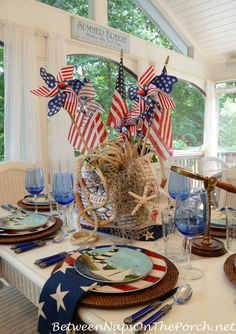 Celebrate the 4th of July, Independence Day, With a Nautical Themed Table Setting