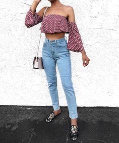 crop top + mom jeans @dcbarroso