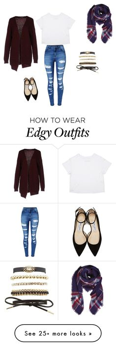 """""""Untitled #1"""" by alleyapruzzi on Polyvore featuring WithChic, Charlotte Russe, Please, Humble Chic and Jimmy Choo"""