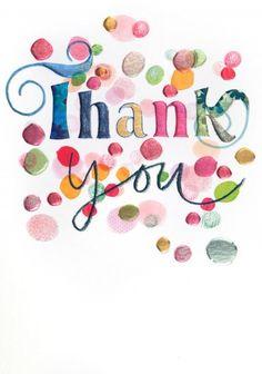 Thank you - 'Thank you'