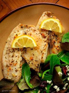 Broiled Tilapia with Garlic.
