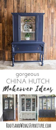A round up of painted hutches to inspire you to grab a brush and get to work.  Painted hutch makeover ideas for your home!
