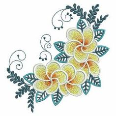 Plumeria 08(Md) machine embroidery designs