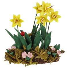 Miniature Set of Daffodil Flowers