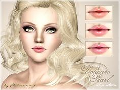 Delicate Pearl Lip Stain by Pralinesims - Sims 3 Downloads CC Caboodle