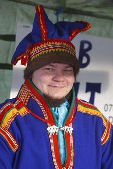 Sami man, Jokkmokk\'s market, Swedish Lapland