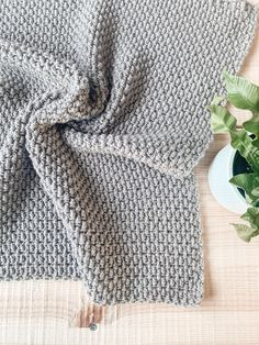 Crochet Seedling Blanket - in 12 sizes! - free pattern Free pattern for the crochet seedling blanket, a textured heirloom style blanket with easy construction, a video tutorial, and 12 sizes! Crochet Afghans, Crochet Blanket Patterns, Baby Blanket Crochet, Crochet Stitches, Free Crochet, Stitch Patterns, Knitting Patterns, Knit Crochet, Crochet Blankets