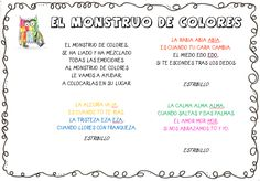 Plastificando ilusiones: ¡¡Comenzamos con la alegría!! Spanish Colors, Yoga For Kids, Second Grade, Literacy, Worksheets, Activities For Kids, Psychology, Clip Art, Learning