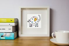 Elephant//Nursery wall art// Nursery wall by illustation on Etsy