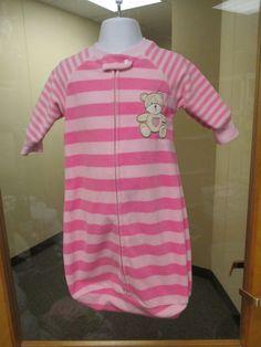 3c72ccec8e Carters Sleeping Bag Pajamas size 0-9 months Bear Pink Stripe  Carters