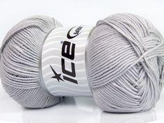 Fiber Content 50% Bamboo 50% Cotton Light Grey Brand Ice Yarns fnt2-44105 Baby Bamboo, Bamboo Light, Cotton Lights, Yarns, Fiber, Content, Grey, Gray, Low Fiber Foods