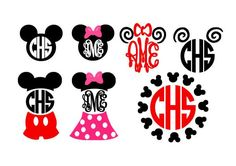 Mouse Ears Set instant download cut file for cutting machines - SVG DXF EPS ps studio3 studio (monogram fonts sold separately) by bibberberry on Etsy https://www.etsy.com/listing/213831028/mouse-ears-set-instant-download-cut-file