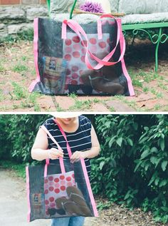 DIY: no sew beach bag