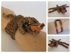 Rainbow Loom dachshund bracelet Loombicious