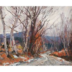 """Vermont Road,"" Emile A Gruppe, oil on canvas, 25 1/8 x 30"", private collection."