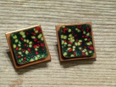 Matisse Earrings Vintage MATISSE Enamel and Copper by TheCopperCat