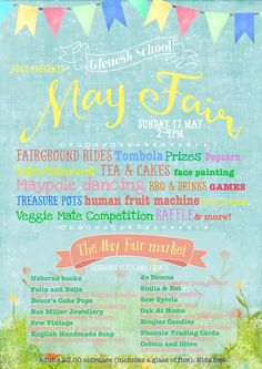 And this is the School Spring Fair poster I created.