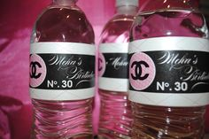 Coco Chanel Invitations | Set of 12 COCO CHANEL custom water bottle labels shower wedding baby ...