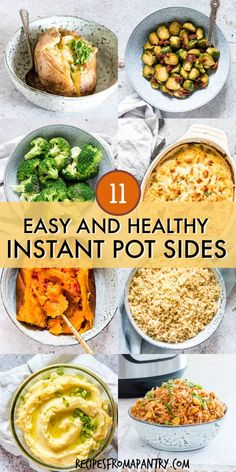 This collection of Healthy Instant Pot Recipes includes quick, easy and so good-for-you meals. Full of flavour and so satisfying, you'd nev. Side Dishes Easy, Vegetable Side Dishes, Side Dish Recipes, Lunch Recipes, Healthy Recipes, Freezer Recipes, Salad Recipes, Main Dishes, Instant Pot Dinner Recipes