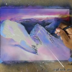 """5,392 отметок «Нравится», 137 комментариев — Joshua Dansby (@jd_tech_art) в Instagram: «""""High Alps"""" (complete Video) This drawing took me 5hrs 42mins to complete Music: Bella's Lullaby by…»"""