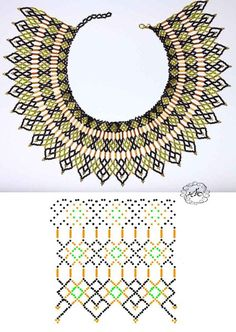 CХЕМИ силянок, кольє з бісеру Diy Necklace Patterns, Seed Bead Patterns, Jewelry Patterns, Beading Patterns, Stitch Patterns, Bead Jewellery, Seed Bead Jewelry, Jewelry Making Beads, Beading Techniques