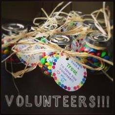 Parent Volunteer Thank You Gift Idea - great for PTO/PTA